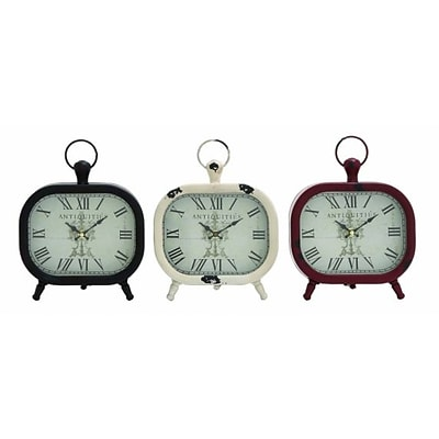 Benzara  Shanghai Antique Styled Metal Table Clock 3 Assorted (BNZ10088)