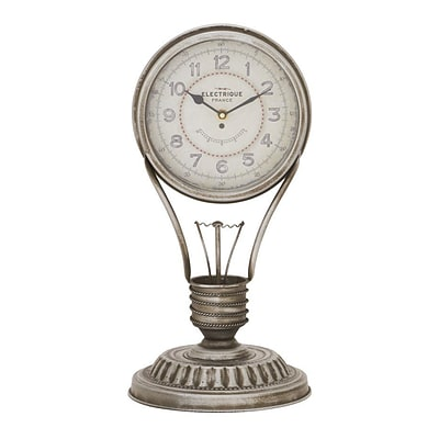 Benzara  Attractive Metal Table Clock - 9 in. W (BNZ13823)