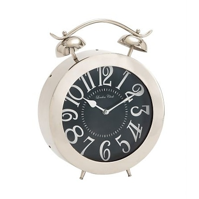 Benzara  Stainless Steel Table Clock (BNZ7222)