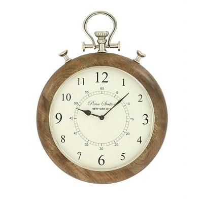 Benzara  Era Wood Metal Wall Clock (BNZ9507)