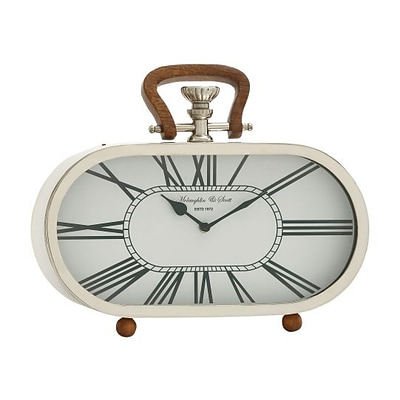 Benzara  Fantastic Steel Wood Table Clock (BNZ9523)