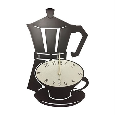 Creative Motion  Acrylic Clock with Coffee Cup Design (CRML156)