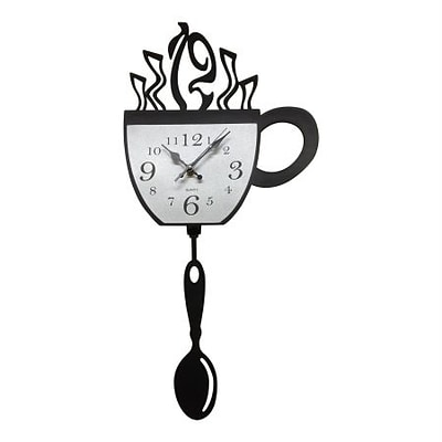 Creative Motion  Acrylic Clock with Cup Design and Pendulum (CRML157)