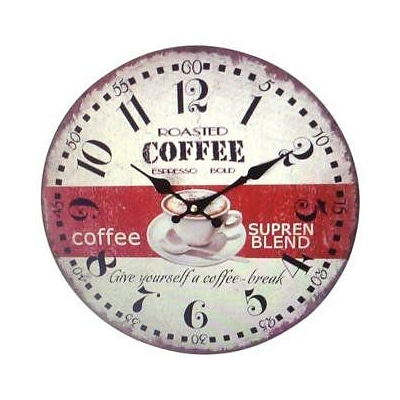 Creative Motion  Wall Clock - Supreme Blend Coffee (CRML282)