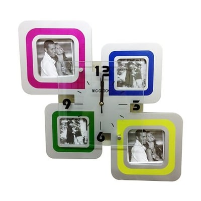 Creative Motion  Clock with 4 Square Frames (CRML365)
