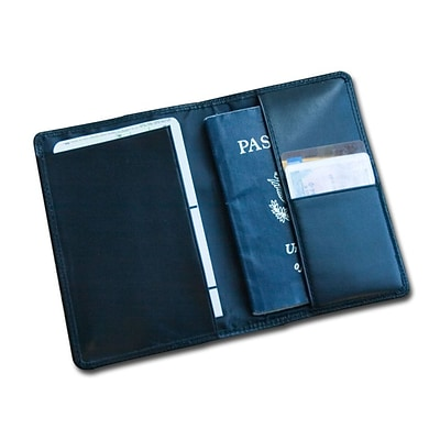Dacasso  Classic Black Leather Passport Holder - 0.10 lbs. (DCSS378)