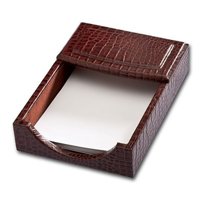 Dacasso Limited  Brown Crocodile Embossed Leather 4 X 6 Memo Holder (DCSS718)