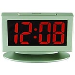 Geneva Clock Co.  LED Red Display Alarm Clock 4x1x6.5 Silver (DGC12851)