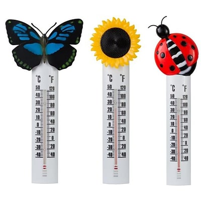 Headwind Consumer Products  10 in. Deco Thermometer withButterfly (HCP033)