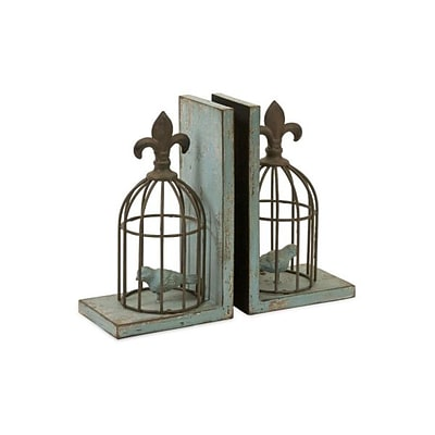 Home Decor Improvements  Birdcage Bookends - Set of 2 (IMAX3673)