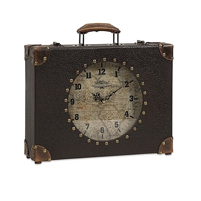 IMAX Corporation  World Map Suitcase Clock (IMAX7065)