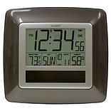 La Crosse Technology  Solar Atomic Digital Wall Clock with Indoor Temp-Humidity (LA747)