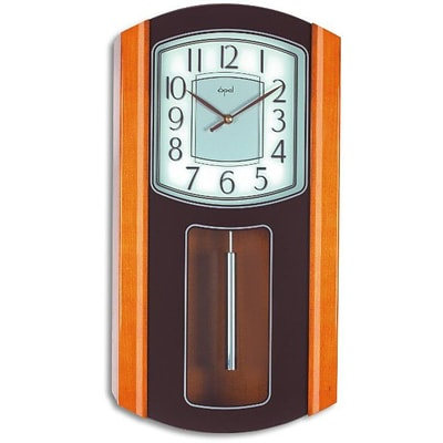 Opal Luxury Time Products  Wooden Pendulum Clock With Printed Front Glass (OPLX074)