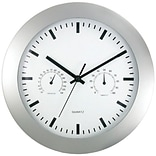Timekeeper  12 in. Round Wall Clock & Weather Station (PETRA13319)