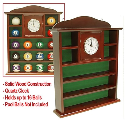 Ball Holder Quartz Clock with Solid Wood (POKER052)