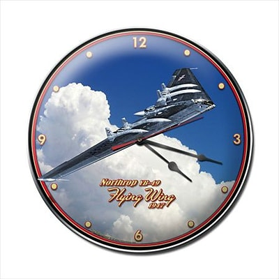 Past Time Signs  Flying Wing Aviation Clock (PSTMS1770)