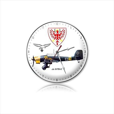 Past Time Signs  Junkers 87-B Aviation Clock (PSTMS403)