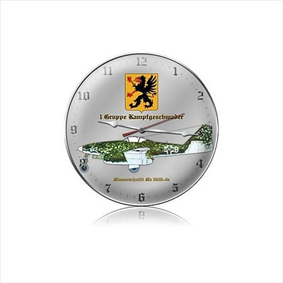 Past Time Signs  Messerschmitt 262-A Aviation Clock (PSTMS452)