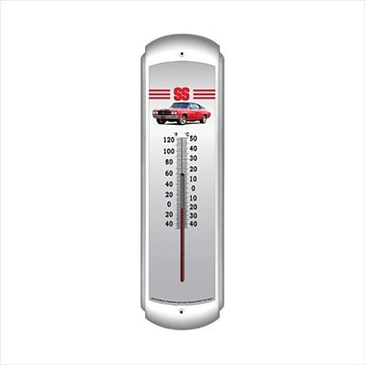 Past Time Signs 1970 Chevelle Ss Red Automotive Thermometer - 3 Pounds (PSTMS835)