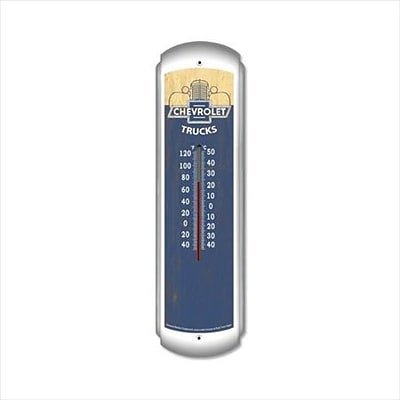 Past Time Signs Chevrolet Trucks Vintage Automotive Thermometer - 3 Pounds (PSTMS848)