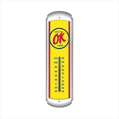 Past Time Signs Ok Used Cars  Automotive Thermometer (PSTMS868)