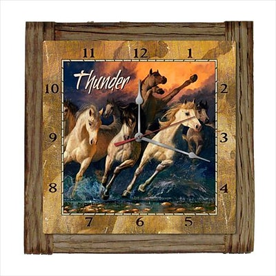 Past Time Signs  Thunder Home And Garden Clock (PSTMS947)