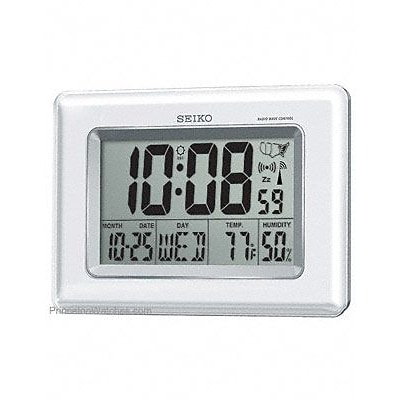 Seiko  Radio Controlled Wall or Desk Clock - Thermometer - Hygrometer - Calendar (RWRDAMSE184)