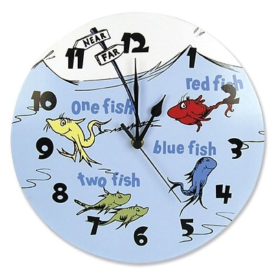 Trend Lab  Wall Clock - Dr. Seuss One Fish Two Fish (TREND2420)