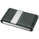 Visol  Carlisle Black Leather And Business Card Case (VISOL1591)