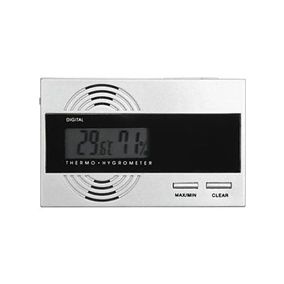 Visol  Silver Digital Thermo Hygrometer for Cigar Humidors (VISOL1703)