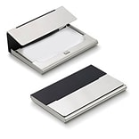 Visol  Malta Black Matte Silver Plated Business Card Case (VISOL1806)