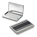 Visol  Cove Silver Plated Business Card Case For Ladies (VISOL1811)