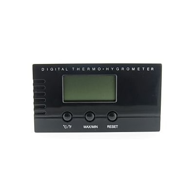 Visol  Black Digital Thermo Hygrometer for Cigar Humidors (VISOL1955)