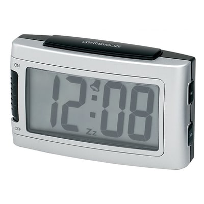 Impecca  Battery Alarm Clock With Snooze - Silver (ZRSS2533)