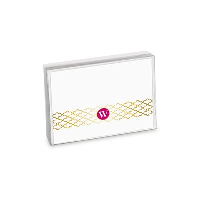 Viabella, 8 Pc, Boxed Initial Notes Lattice Initials W, Multicolor, 5.25 x 4, EA (20044)