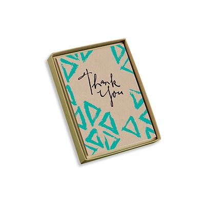 Viabella, 10 Pc, Love Mother Earth Boxed Thank You Cards Triangles, Multicolor, 4 x 5.25, EA (18000)