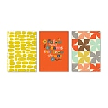 Viabella, Orange Hues Large Journal 3 Pc Assortment, Ruled, 8.5 x 5.75, Multicolor (93205)