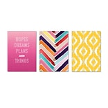 Viabella, Colorful Gradients Large Journal 3 Pc Assortment, Ruled, 8.5 x 5.75, Multicolor (93208)
