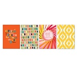 Viabella, Colorful Gradients Small Journal 4 Pc Assortment, Ruled, 5.5 x 4, Multicolor (93210)