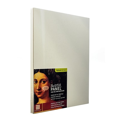 Ampersand The Artist Panel Canvas Texture Cradled Profile 11 In. X 14 In. 3/4 In. (APC.75 1114)
