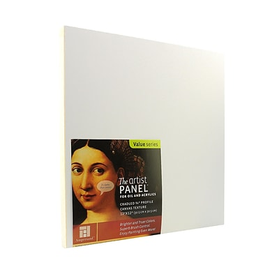 Ampersand The Artist Panel Canvas Texture Cradled Profile 12 In. X 12 In. 3/4 In. [Pack Of 2] (2PK-APC.75 122)