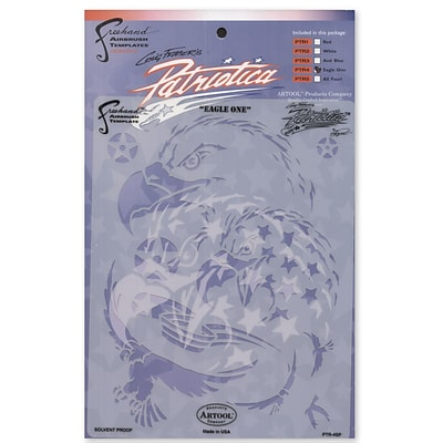 Artool Patriotica Eagle One Freehand Airbrush Template By Craig Fraser Template (PTR-4SP)