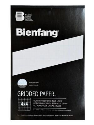 Bienfang Gridded Paper 4 X 4 11 In. X 17 In. Pad Of 50 [pack Of 2] (2pk 910593)