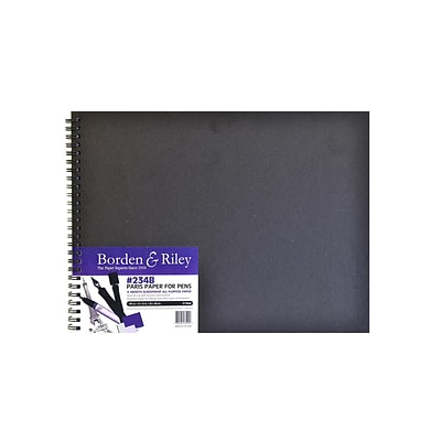 Borden  And  Riley 234 Paris Paper For Pens Hard Cover Sketch Book 9 In. X 12 In. 40 Sheets (234B091240)