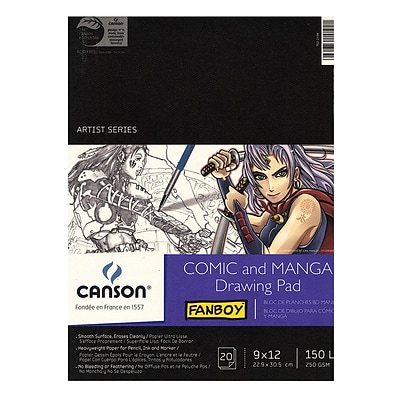 Canson Fanboy Comic And Manga Drawing Pad, 9 In. x 12 In. (100510882)