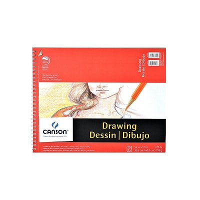 Canson Foundation Drawing Pad, 14 In. x 17 In., Pack Of 2 (2PK-100510980)