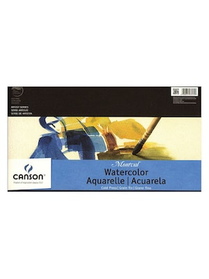 Canson Montval Watercolor Paper, 10 In. X 15 In., Pad Of 12, Tape Bound, 140 Lb., Cold Press, Pack Of 2 (2pk 100511052)