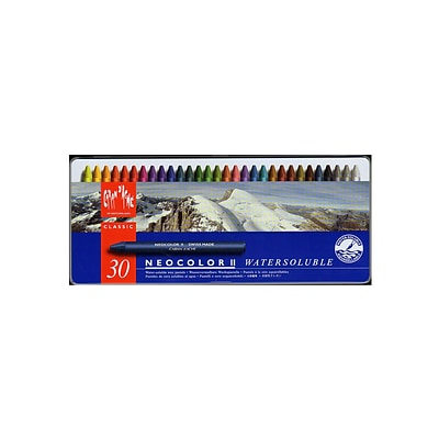 Caran DAche Neocolor Ii Aquarelle Water Soluble Wax Pastel Sets Set Of 30 (7500-330)