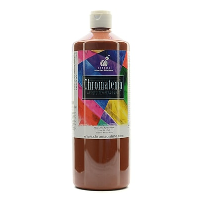 Chroma Inc. Chromatemp Artists Tempera Paint Brown 32 Oz. [Pack Of 2] (2PK-2602)