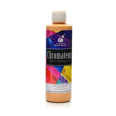 Chroma Inc. Chromatemp Artists Tempera Paint Peach 8 Oz. [Pack Of 6] (6PK-2206)